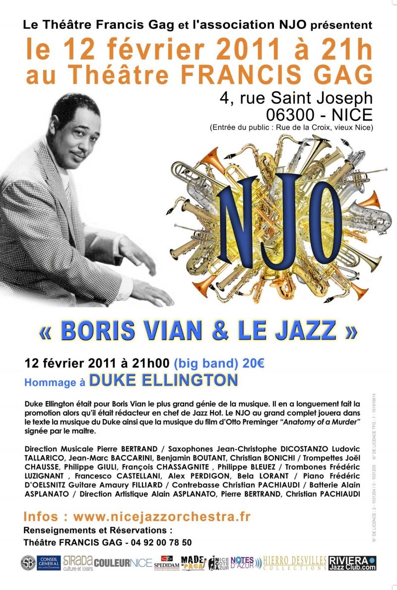 Boris Vian et le jazz 2011, Duke Ellington