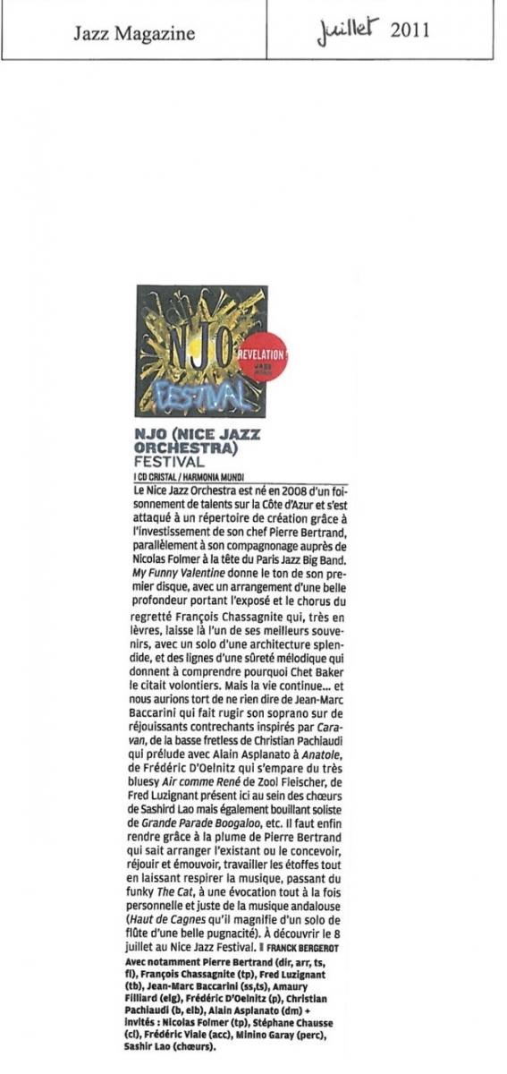 Jazz Mag Juillet Aout 2011 Article + PUB