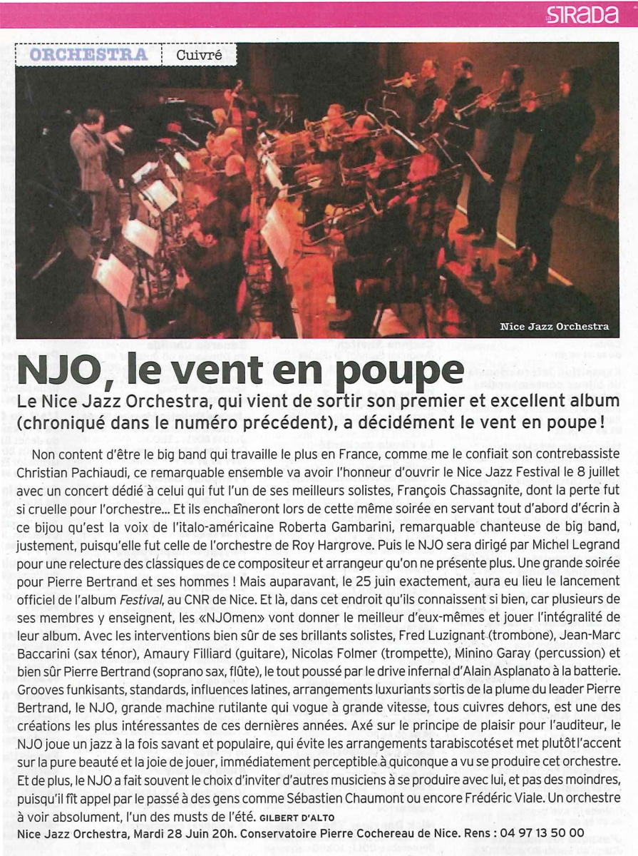 La strada-Jazz-Du 20 Juin au 3 Juillet 2011