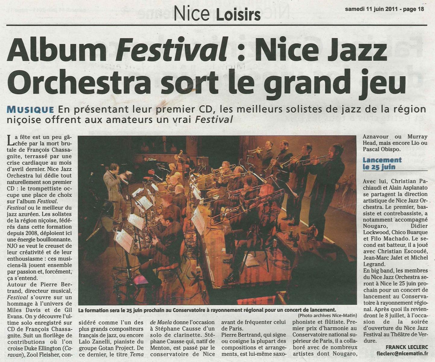 Nice matin-Nice loisirs-11 juin 2011