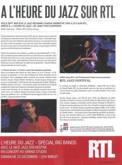 Jazz News RTL Decembre 2011
