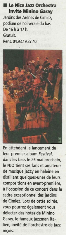 NICE-MATIN Sortir-1er au 7 Juin 2011